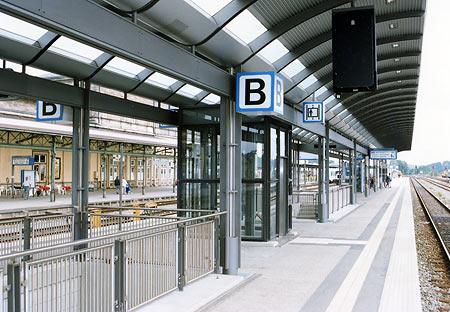 Bahnsteigdach Hamburg für Topbahnhöfe wie z.B. Ulm