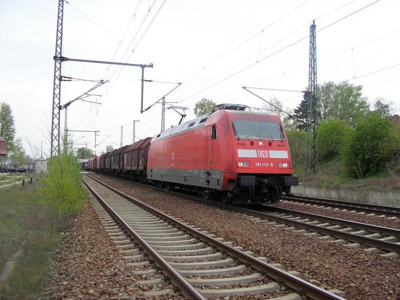 Beispiel eines Güterzugdurchfahrtgleises