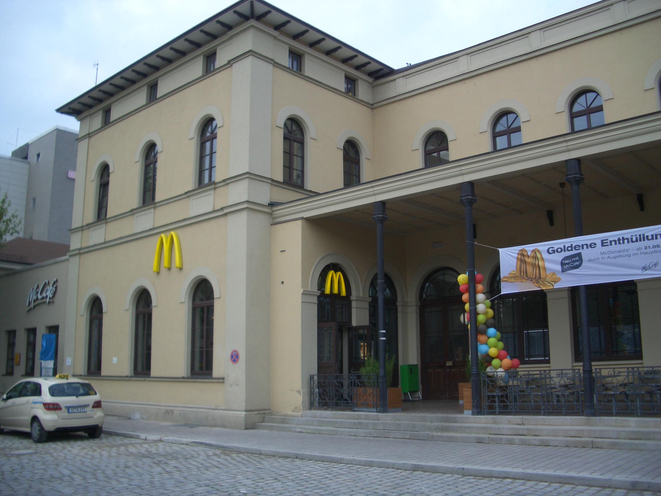Mc Donald am Hbf Augsburg