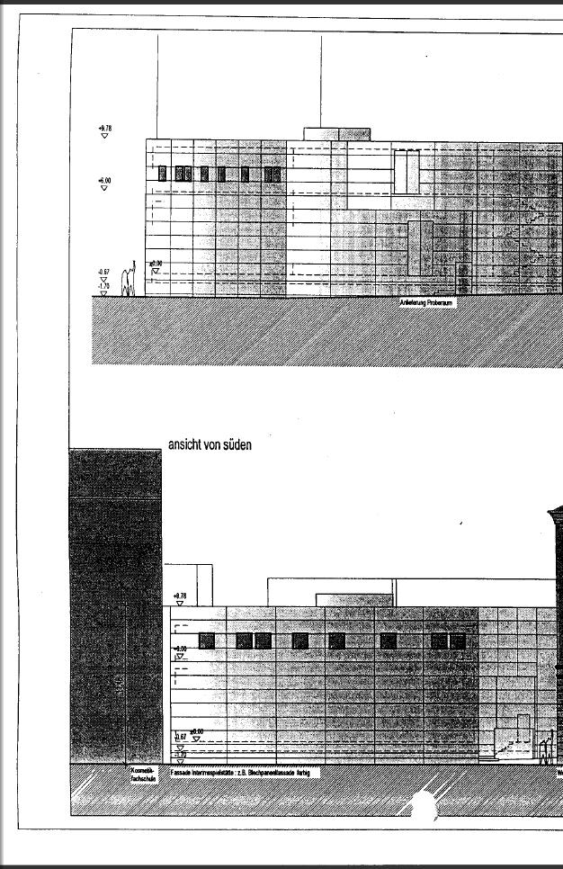 Fassaden neues Containerschauspielhaus