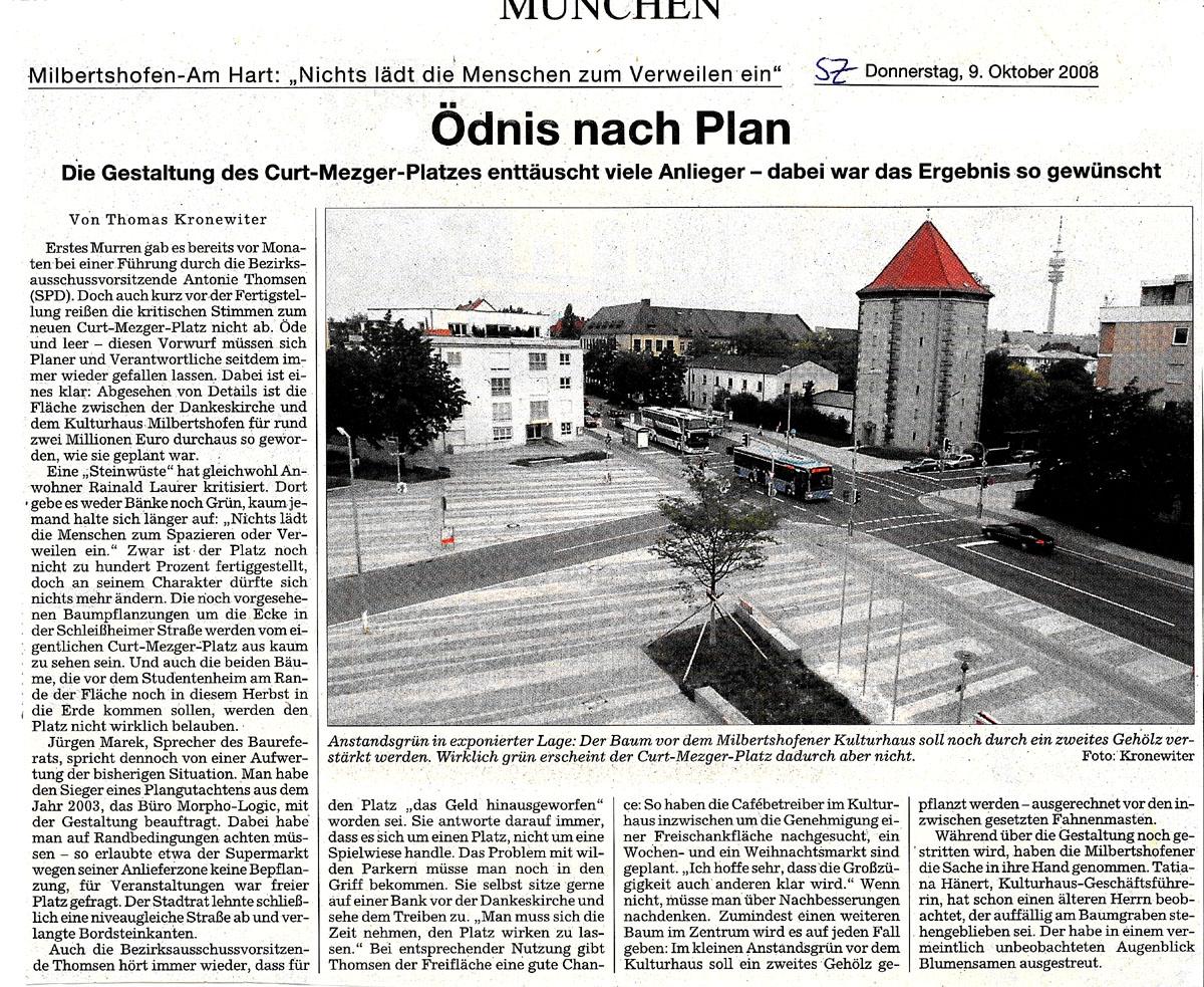 Curt-Mezger-Platz in Milbrechtshofen - Ödnis nach Plan