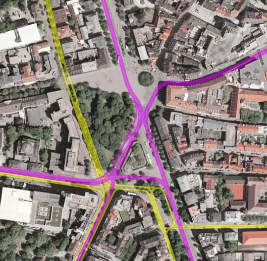 Bypass Hallstraße/Maxstraße/Milchberg 1.Preis Ideenwettbewerb Wunderle