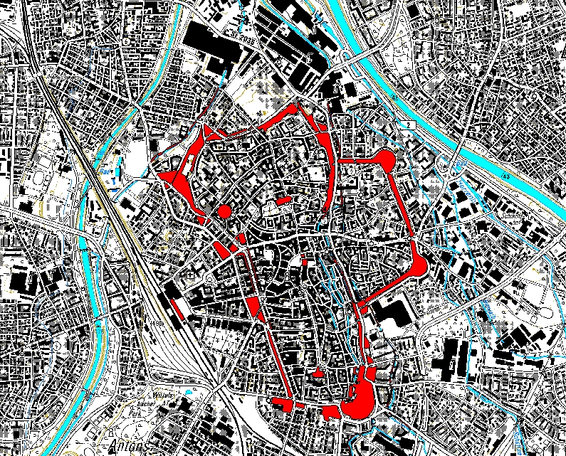 Schutzbereich (ROT) Grüngürtel Altstadtring