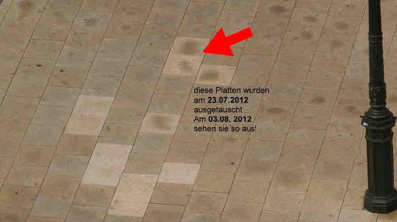 """Neue Platte mit """"Flecken-Ausschlag"""" am 04.08.2012"""