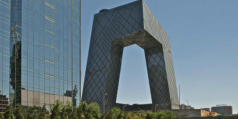The CCTV building in Beijing, China