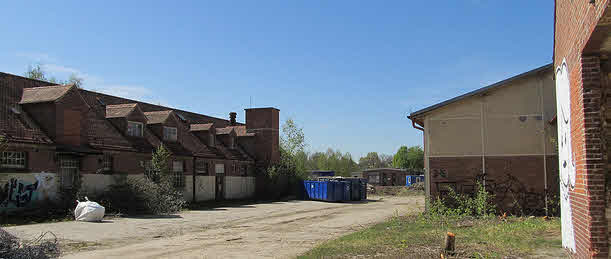 Pferdestelle auf dem Kasernengelände in Ziegelsichtmauerwerk (bereits abgerissen)