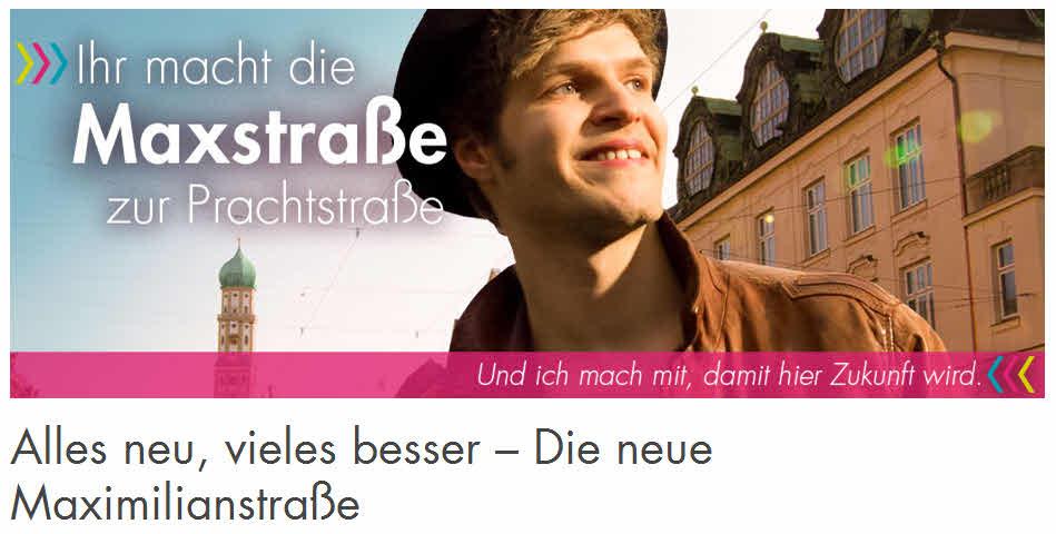 """Werbekampagne der Stadt zur """"Prachtmeile"""""""