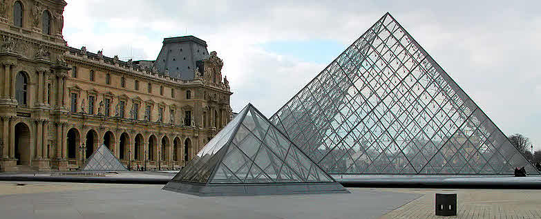 """Erweiterung und Sanierung des """"Grand Louvre"""" in Paris 1982"""