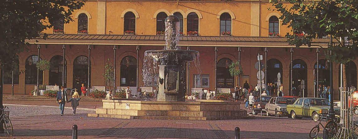 Bronzebrunnen auf dem Bahnhofsvorplatz (1986/ 87, Theo und Christoph Bechteler