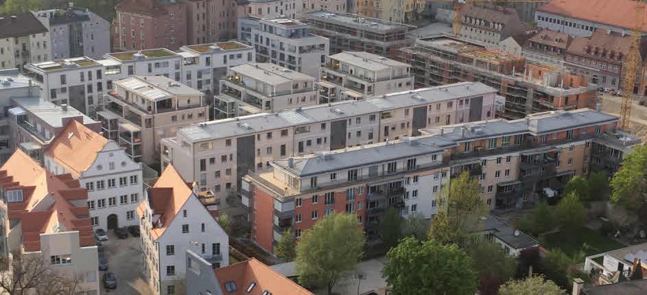 Das neu entstehende Kaiserviertel vom Ulrichsturm