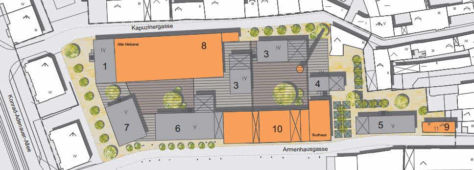 Bebauung Brauereigelände unter Erhalt von Sudhaus, Mälzerei und Schlot