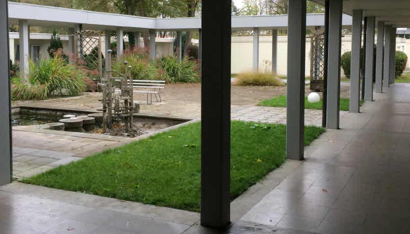 Gemeinschaftsbereich - Atriumhof der Seniorenbunglows