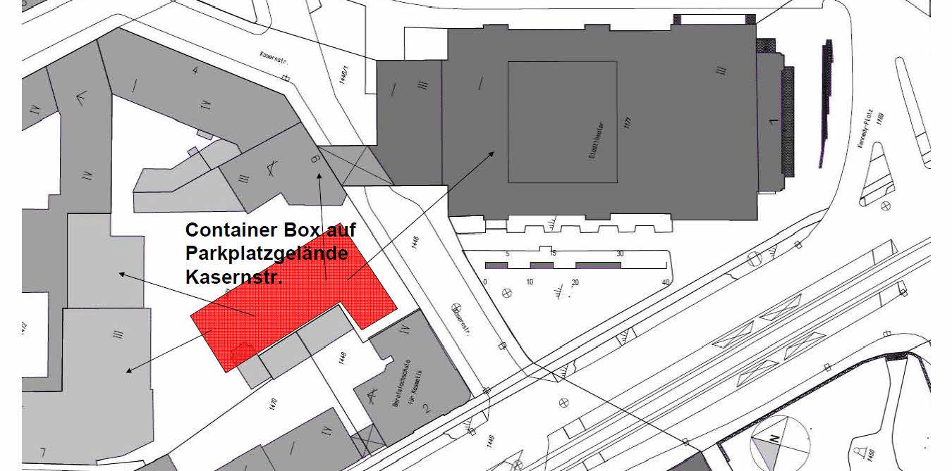 Lageplan Friedrich-Container