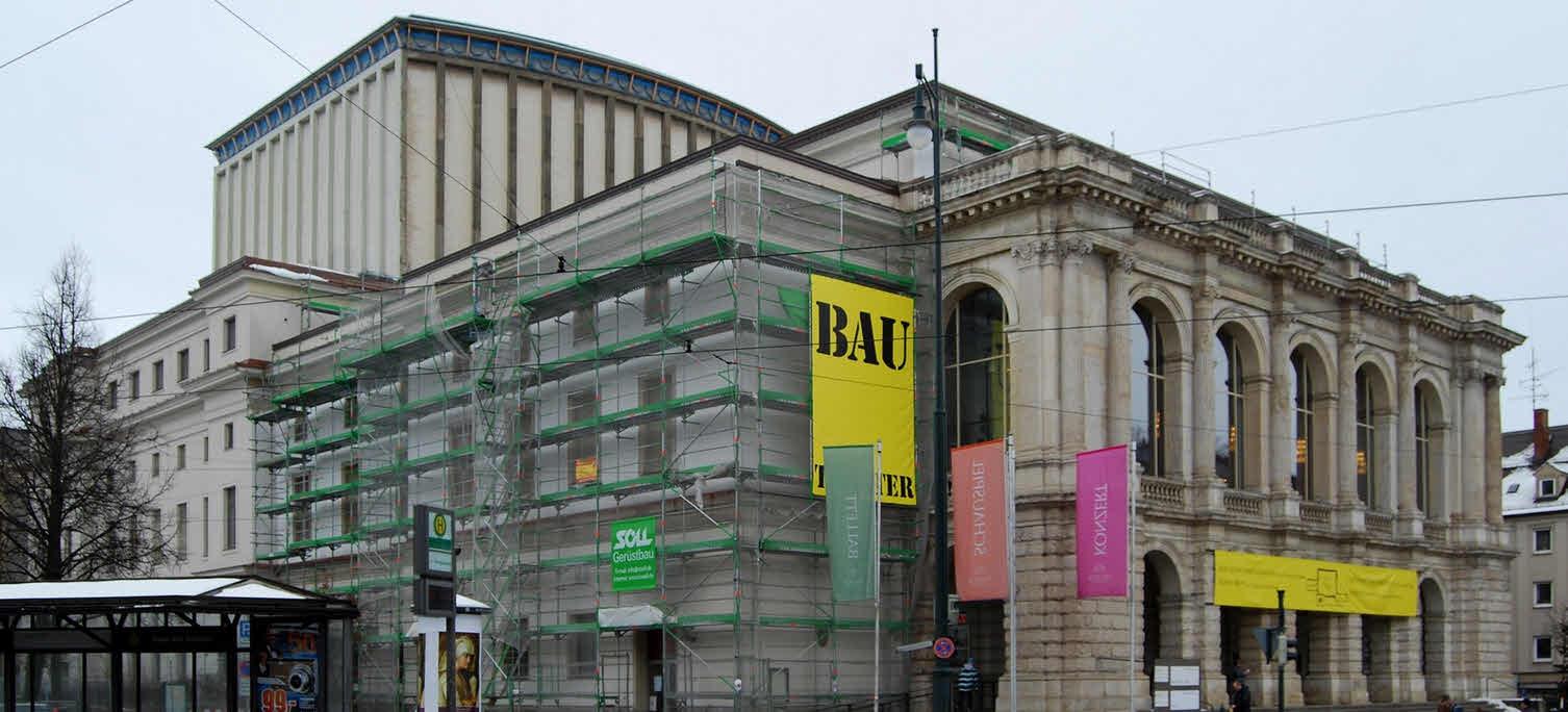 2007 - Das Theater ist eingerüstet.