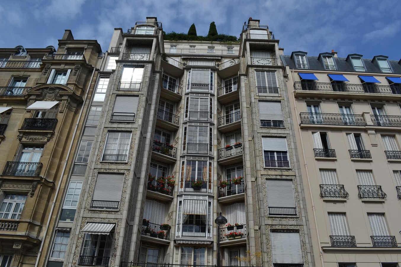 Wohnhaus in der 25, rue Franklin in Paris