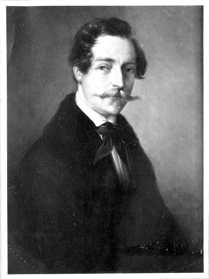 Fotografie des Hochzeitsportraits von Eduard Rüber 1833