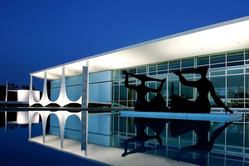 Alvorada-Palast -Amtssitz der brasilianischen Präsidenten– Brasília 1957-58